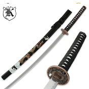 Black Flying Dragon Katana Sword and Scabbard