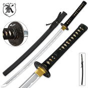 Black Bonsai Samurai Katana Sword Carbon Steel With Scabbard