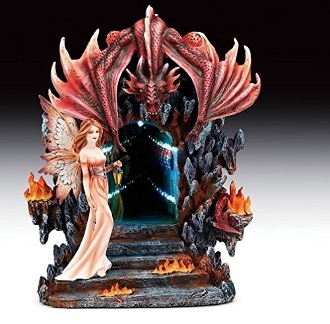 Infinity Red Dragon And Fairy LED Figurine