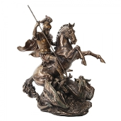 St George Slaying the Dragon Bronze Resin Statue