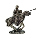 Jousting Mounted Medieval Knight Statue