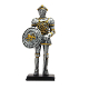 Medieval Knight Swordsman with Shield Statue