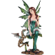 Woodland Fairy with Dragon Statue