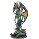 Green Fairy with Dragons Statue