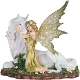 Spring Fairy Hugging Unicorn Statue