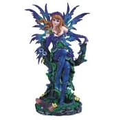 Blue and Green Fairy Statue