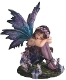 Sleeping Purple Flower Fairy Statue
