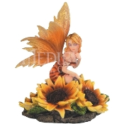Bashful Sunflower Fairy Statue