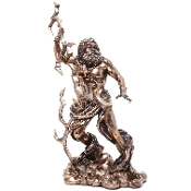Bronze Wrathful Zeus Statue