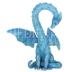 Blue Heart Dragon Statue