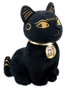 Black and Gold Bastet Plush Doll