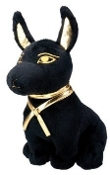 Egyptian Smaller Black and Gold Anubis Plush