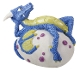Blue and Yellow Dragon Hatchling Relaxing On An Egg