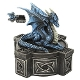 Blue Mystic Dragon Statue Celtic Box