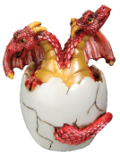 Hatching Two Headed Red Dragon
