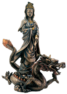 Kuan Yin on Dragon