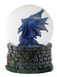 Midnight Dragon Water Globe