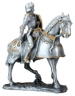 French Knight on Horse