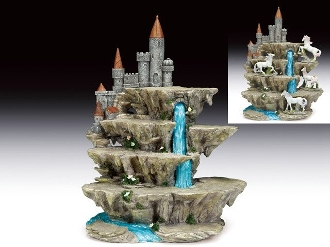Medieval Castle Display Base with Waterfall