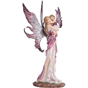Magenta Fairy and Baby Statue