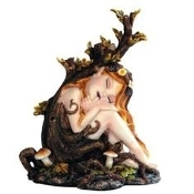 Sleeping Forest Pixie Statue