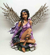 Purple Fairy with Dragon Statue