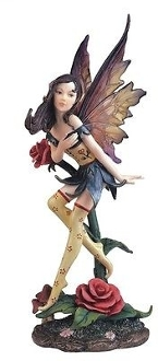 Fairy with Rose Statue