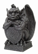 Gargoyle With Shield Statue