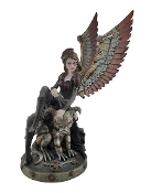 Steampunk Angel and Gargoyle Decorative Statue