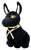 Black and Gold Anubis Plush Doll