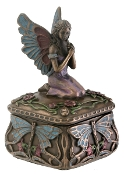 ART NOUVEAU DRAGONFLY FAIRY BOX