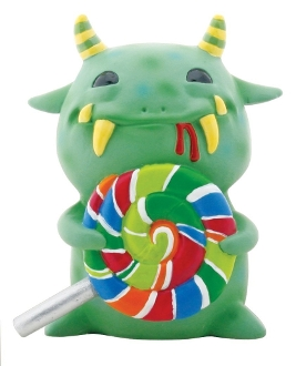 Green Mogu Mogu with Lollipop Figurine