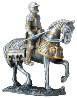 German European Knight On Horse
