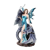 Blue Fairy with Dragon