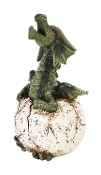 Green Dragon Egg Hatchling Incense Burner
