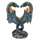 Double Dragon Heart Candle Holder