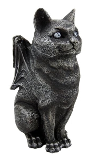 Cat Gargoyle Candle Holder