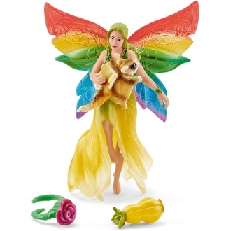 Rainbow elf Meena with flying squirrel