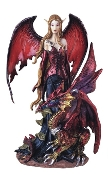 Red Elvish Fairy with Red Dragon