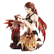 Fairy With Dual Dragons Figurine