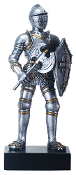 Medieval Knight with Axe Figurine
