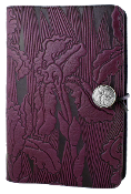 Purple Leather Iris Journal