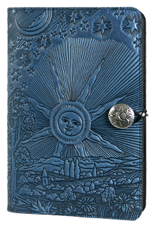 Blue Leather Sun/Stars Journal