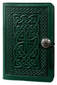 Green Leather Celtic Knot Journal