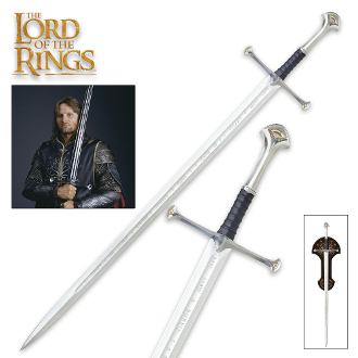 Anduril Sword of King Ellesar with Wall Plaque
