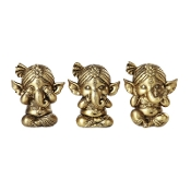 GANESHA SEE, HEAR, SPEAK NO EVIL SET OF 3
